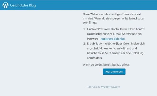 WordpressEinloggen